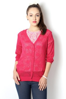Allen Solly Women's Button Woven Cardigan