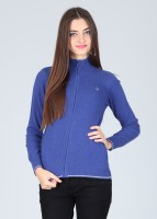 United Colors of Benetton Women's Zipper Solid Cardigan