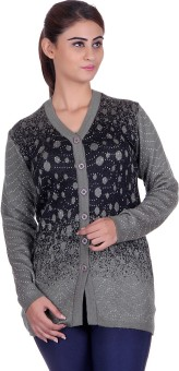 EWools Women's Button Solid, Polka Print Cardigan