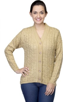 One Femme Women's Button Self Design Cardigan - CGNEDAGAEZGBZHCR