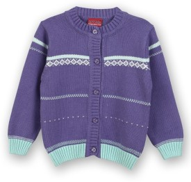 Lilliput Baby Girl's Button Self Design Cardigan