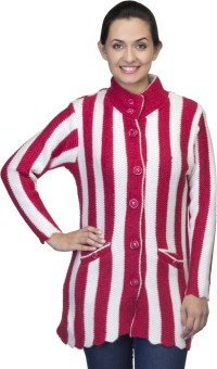 One Femme Women's Button Striped Cardigan