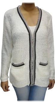 Bk Black Women's Button Solid Cardigan - CGNEBR5G7BKYUWZF