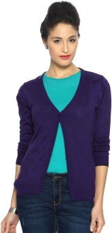 Allen Solly Women's Button Solid Cardigan