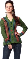 Tab 91 Women's Button Striped Cardigan