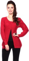 Tab 91 Women's Button Self Design Cardigan - CGNEF5XDKTJNDVYQ
