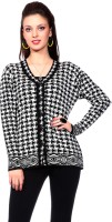 Tab 91 Women's Button Printed Cardigan