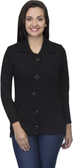 One Femme Women's Button Solid Cardigan - CGNED9WGE5H4RYWH