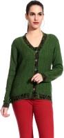 Tab 91 Women's Button Self Design Cardigan - CGNE2T2UGPB3MPGW