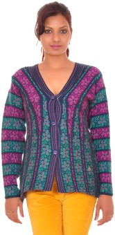 Montrex Women's Button Floral Print Cardigan