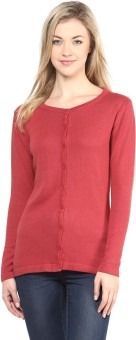 Annabelle By Pantaloons Women's Button Solid Cardigan - CGNEA39VCP7RQCTW