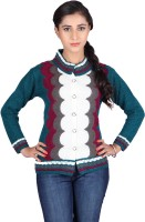 Montrex Women's Button Geometric Print Cardigan