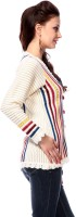 Tab 91 Women's Button Striped Cardigan - CGNEF3PFCHVQSKZZ