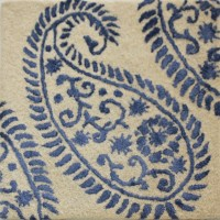 Rugs N More White, Blue Wool, Silk Carpet