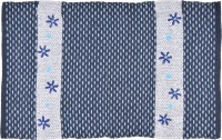 Brabuon Blue Cotton Area Rug 50 Cm  X 80 Cm