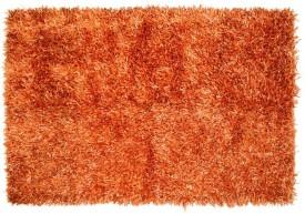 Natural Furnish Orange Polyester Area Rug