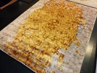 Carpet Couture White, Orange, Red, Gold Viscose Area Rug