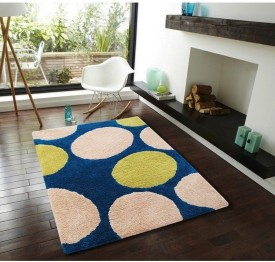 Flooring India Company Blue Polyester Carpet