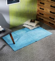 SWHF Blue Cotton Area Rug 80 Cm  X 135 Cm