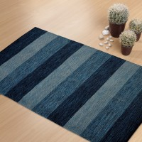 Shahenaz Home Shop Blue Cotton Area Rug - CPGE9HQRGMPAVHZ7