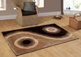 Excel Bazaar Brown Polyester Carpet