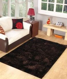Homefab India Brown Polyester Carpet