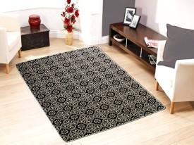 Saral Home Black Cotton Carpet