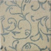 Rugs N More White, Grey Wool, Silk Carpet 60 Cm  X 60 Cm