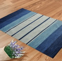 Shahenaz Home Shop Blue Cotton Area Rug - CPGE9HQRUMZWRRM9