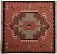 Carpet Overseas Multicolor Cotton Area Rug 91 Cm  X 91 Cm