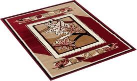 FURNISHINGLAND Red Polyester Carpet