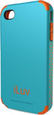 iLuv Back Cover for iPhone 4 Series Teal Blue