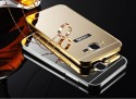 SMA Back Cover For Metal Bumper Plus Acrylic Mirror Back Cover Case For Samsung Galaxy On7 (Golden)
