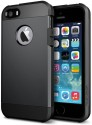SCHOFIC Back Cover For Spigen Tough Armor Back Case Cover For Apple IPhone 5/5S (Black)