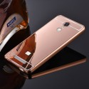 Spicesun Back Cover For Metal Bumper Plus Acrylic Mirror Back Cover For Xiaomi Redmi Note 3 (ROSE GOLD)