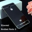 Spicesun Back Cover For Metal Bumper Plus Acrylic Mirror Back Cover For Xiaomi Redmi Note 3 (Black)