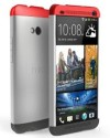 Taslar Back Cover For HTC ONE Dual / Dual Sim 802D (Red/White/Grey)