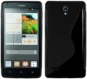 S Design Back Cover For Huawei Ascend G700 - Black