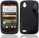 S Design Back Cover For HTC Desire X - Black