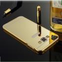 JBJ Bumper Case For Metal Bumper Plus Acrylic Mirror Back Cover Case For Samsung Galaxy J5 - Gold (GOLDEN)