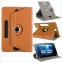 MBW Book Cover For Book Cover For Bsnl Penta WS704Q 3G (DARK BROWN)