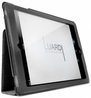 Luardi Soft Leather Case Cover for iPad Mini LIPADMSLCBLK Black available at Flipkart for Rs.499