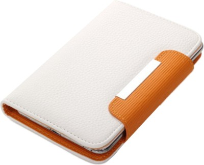 Jojo Flip Cover for Huawei Ascend G700 White, Orange available at Flipkart for Rs.590