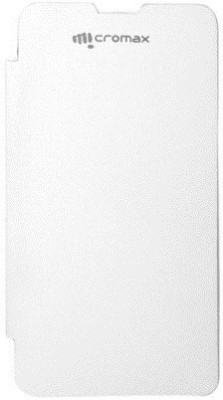 Micvir Flip Cover for Micromax Canvas Fun A76 White available at Flipkart for Rs.149