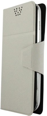 Molife Flip Cover for Spice Mobile Smart Flo Mettle 5X White available at Flipkart for Rs.499
