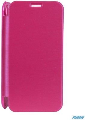 Fuson Flip Cover for Xolo A800 Pink available at Flipkart for Rs.499