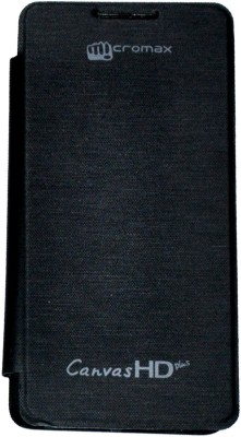Vasnm Flip Cover for Micromax A190 Canvas Hd Plus Black available at Flipkart for Rs.155