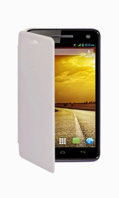 G4U Flip Cover for Micromax A76 SS White available at Flipkart for Rs.99