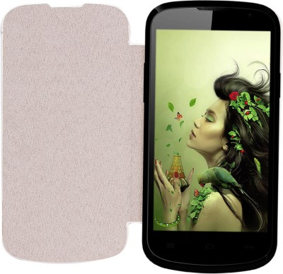 Edge Flip Cover for LAVA Iris 458Q White available at Flipkart for Rs.299