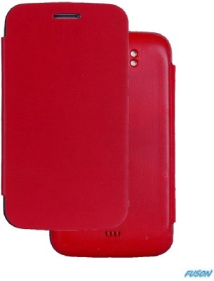 Fuson Flip Cover for Xolo A800 Red available at Flipkart for Rs.499